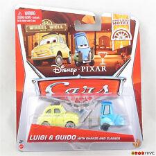 Disney Pixar Cars 2013 Luigi Guido shaker glasses Wheel Well Motel  - worn card