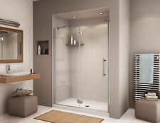 "FLEURCO 48"" x 75"" PLATINUM LEXUS 3/8"" GLASS FRAMELESS PIVOT SWING SHOWER DOOR"