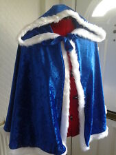 sexy hooded crushed velvet cape valentines red white purple black   fur option