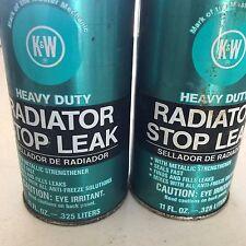 VINTAGE (2) K&W  Heavy Duty Radiator Stop Leaks 11 oz
