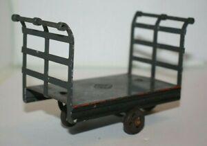 Vintage GBN Bing Bavaria Tinplate Luggage Trolley/Porters Cart, 14118, Post 1906