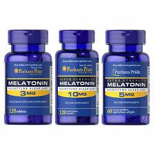 Puritan's Pride Melatonin Variations -Sleep Aid -Antidepressant -Anxiety Relief