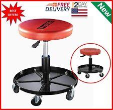Mechanics Rolling Stool Work Shop Seat Chair Adjustable Roll Swivel Tool Garage