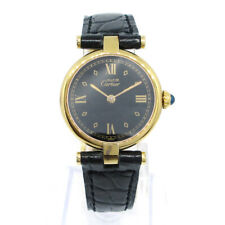 Must de Cartier VERMEIL 560004 Ladies Quartz Wristwatch Gold plated 05581