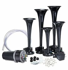 Zone Tech 5x Trumpet Musical Duke Of Hazzard Dixie Horn Kit 125Db Air Compressor