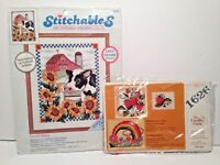 Lot of 2 Counted Cross Stitch Kits Dimensions On The Farm Strawberry Vine Sealed