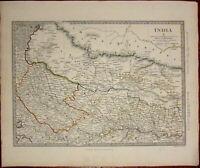 Northern India Himalaya Mountains Gorkha c.1834 SDUK detailed Walker map