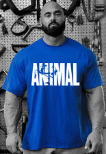 2018 New Men's Animal Fitness Cotton O-Neck Gym Muscle Bodybuilding T-shirt Tee