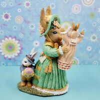 The Victorian Collection~ Mother Hopper With Tom & Lilly~Rabbit Figurine Easter