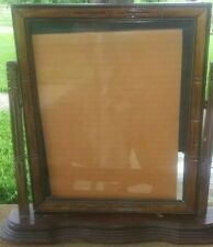 """Vintage Wood Tabletop Picture Frame Tilting 8"""" x 10"""" - Orginal Glass - Preowned"""