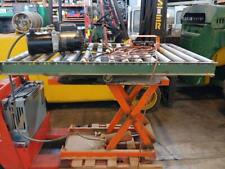 Bishamon X75 Hydraulic Scissor Lift Table Rotary Roller Table 60 X 41 1650 Lbs