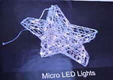 "Starlights 48"" 300 LED STAR Flexible Wire FRAME Micro Lights SILVER Covered NEW"