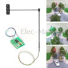 HO OO Scale Traffic Light Signal Model Train Architecture Crossing Street +Board