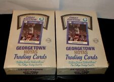 2-GEORGETOWN HOYAS Trading Cards Collegiate 1st Edition Factory Sealed Boxes