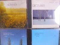 George Winston-Winter into Spring/ Summer/ Autumn/ December- 4 CDs (3x USA)