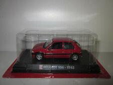 TRES RARE PEUGEOT 106 XSI / XSi Rouge Red 1993 AUTO PLUS au 1/43 sous Blister