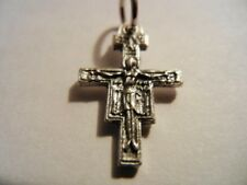 "San Damiano Cross Mini Medal 3/4"" tall  NEW!  Made in Italy!"