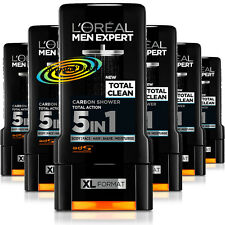 6x Loreal Men Expert Shower Gel Total Clean, Carbon, Total Action 5 IN 1 300ml