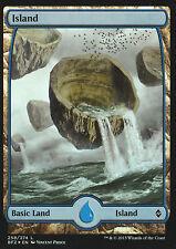Magic The Gathering Battle For Zendikar Full Art Basic Land Island 258 Foil