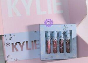 Kylie Cosmetics Holiday 4 Piece Lip Set *100% GENUINE* Lipstick Bundle Brand New