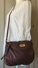 MARC BY MARC JACOBS Classic Q NATASHA Purple Wine Leather Crossbody Shoulder Bag