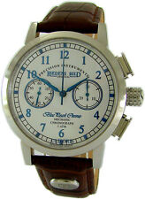 Riedenschild Germany Men's Watch Mechanical Chronograph Leather Strap Brown