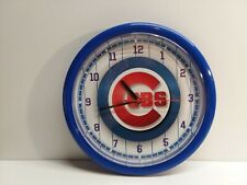 Collectible Chicago Cubs Pinstripe Wall Clock Excellent Condition!