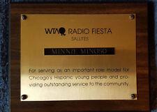 MINNIE MINOSO owned WTAQ RADIO FIESTA AWARD White Sox Cuban Baseball