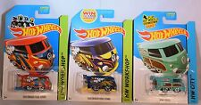 Lot of 3 2014, 2015 Hot Wheels - Volkswagen Kool Kombi (Red, Blue, Green)