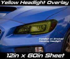 "2015 2017 Subaru WRX STI Yellow Headlight Overlay Vinyl 12""X60"" Non-Precut"