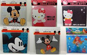 Mouse Pad Mickey Mouse Hello Kitty Ariel 6 Designs to Choose From For Laptop PC