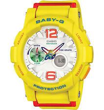 Casio BGA180-9B Women's Analog Digital Tide Graph Yellow Baby G Shock Watch