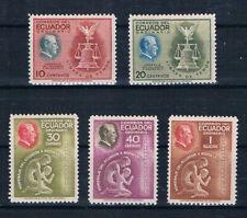 Ecuador 1948 Franklin D. Roosevelt postage set */MH SG 865-9