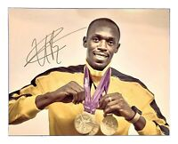 USAIN BOLT Original Signed Autographed 11X14 GOLD MEDAL PORTRAIT Photo COA