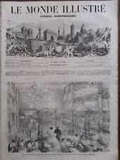 LE MONDE ILLUSTRE 1858 N 88 BAL DE CHARITE DU 8e ARRONDISSEMENT DE PARIS A L'OPE