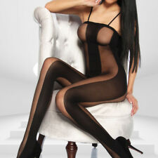 Bodystocking aderente sexy lingerie donna intimo notte hot  body aperta DS112