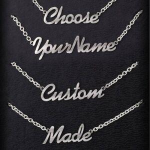 Custom4U Nombres Personalizados Collares Delgados para Mujeres y Muchachas Colgante Acero Inoxidable 316L Joyer/ía Moderna para Madres y Novias Regalo Cumplea/ños
