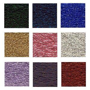 11/0 Preciosa Czech Seed Bead Mini Hanks - Silver Lined and Iris Colours