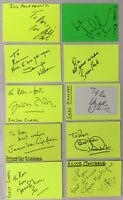10 HANDSIGNED SIGNATURES on 6 x 4 Cards. Theatre and Stage.