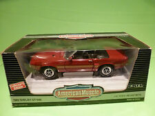 ERTL AMERICAN MUSCLE 7350 SHELBY GT-500 1969 - 428 COBRA BLOCK - RED 1:18 - NMIB