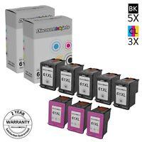 8PK BLACK COLOR CH563WN CH564WN for HP 61XL Ink HY Cartridge ENVY 4500 5539 4501