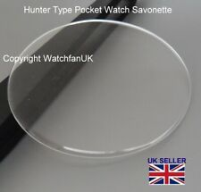 BCL Acrylic Savonette Glasses For Hunter Pocket Watch 20mm to 46mm