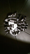 "Handmade OAKLAND RAIDERS Football Fleece Fabric FLOWER brooch pin ~ 4"" dia."