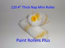 "Mini Paint Rollers 120 4 "" THICKER 15mm NAP Solvent Resistant"