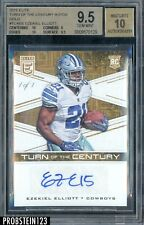 2016 Elite Turn of The Century Gold Ezekiel Elliott Cowboys RC AUTO 1/1 BGS 9.5