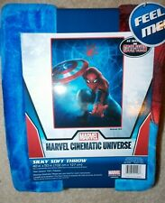 Marvel Civil War Silky Soft Throw 40in X 50in