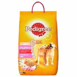 Pedigree Puppy Dry Dog Food, Chicken & Milk, 6kg Pack (free shipping world)