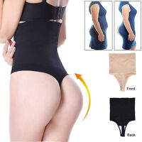 Women Boned High-Waist Trainer Tummy Control Body Shaper Thong Panties Shapewear