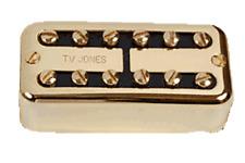 Tv Jones Classic Universal Mount Gold Bridge Guitar Pickup (FTB-UVGLD)