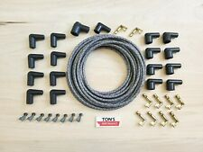 DIY Universal Cloth Covered Spark Plug Wire Kit Set Vintage Wires v6 v8 GRAY bk